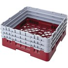 Cambro BR712416 Cranberry Camrack Full Size Open Base Rack with 3 Extenders