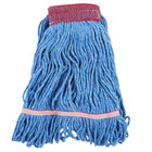 Continental A05101 16 oz. Small Blue Blend Loop End Mop Head with 5 inch Band