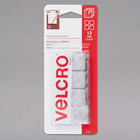 Velcro® 90924 Sticky Back 7/8 inch Square Hook and Loop Clear Fasteners   - 12/Pack