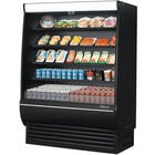 Turbo Air TOM-60DXB-SP-N 60 inch Black Extra Deep Refrigerated Air Curtain Merchandiser with Solid Side Panels