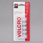 "Velcro® 90070 Sticky Back 5/8"" Diameter White Circle Fasteners - 15/Pack"