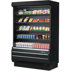 Turbo Air TOM-50B-SP-N 51 inch Black Refrigerated Air Curtain Merchandiser with Solid Side Panels