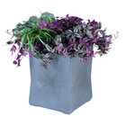 Commercial Zone 724266 ModTec 15 inch x 15 inch Gunmetal Satin Small Square Planter