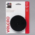 Velcro® 90086 3/4 inch x 5' Black Sticky-Back Hook and Loop Fastener Tape Roll with Dispenser