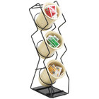 Cal-Mil 1025-3-13 Black Three Compartment Vertical Wire Display