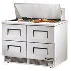 True TFP-48-18M-D-4 48 inch Mega Top Four Drawer Salad / Sandwich Prep Refrigerator