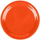 Carlisle 3300852 Sierrus 6 1/2 inch Sunset Orange Narrow Rim Melamine Pie Plate - 48/Case