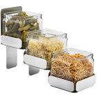 Rosseto SM324 Stainless Steel 3-Level Condiment Station with 3 Glass Jars