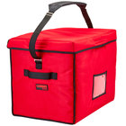 Cambro GBD211517521 Insulated Jumbo Red Stadium Delivery GoBag™ - 21 inch x 15 inch x 17 inch