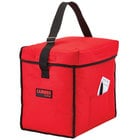 Cambro GBD13913521 Insulated Red Small Top Loading GoBag™ - 13 inch x 9 inch x 13 inch