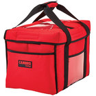Cambro GBD151212521 Insulated Red Sandwich GoBag™ - 15 inch x 12 inch x 12 inch