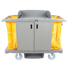 Lavex Lodging Hotel / Housekeeping Cart - Large Locking Three Shelf