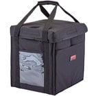 Cambro GBD121515110 Insulated Black Medium Folding Delivery GoBag™ - 12 inch x 15 inch x 15 inch