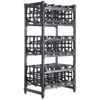 Cambro CPU243672C96480 Camshelving&#174&#x3b; Premium Full-Size Stationary Free Standing #10 Can Rack Unit