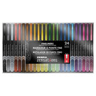 Zebra 09024 Zensations Fineliner Assorted Ink with Assorted Barrel 0.8mm Porous Point Stick Pen - 24/Pack