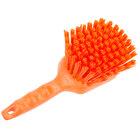 "Carlisle 40541EC24 Sparta Spectrum 8"" Orange General Clean Up / Pot Scrub Brush"