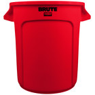 Rubbermaid FG261000RED BRUTE Red 10 Gallon Trash Can