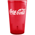 GET 6612-RC Coca-Cola® Textured 12 oz. Red SAN Plastic Tumbler - 72/Case
