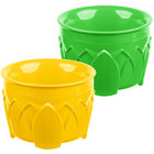 Dinex DX5200428 Fenwick 5 oz. Green / Yellow Insulated Bowl Combo   - 48/Case