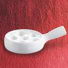 CAC ESD-10-H White China Escargot Dish with Handle 7 1/2 inch - 24/Case