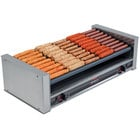 Nemco 8045SXW-SLT-220 Wide Slanted Hot Dog Roller Grill with GripsIt Non-Stick Coating - 45 Hot Dog Capacity (220V)