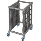 Cambro UPR1826HP20 Camshelving&#174&#x3b; Ultimate 20 Pan Half Size End Load Bun / Sheet Pan Rack with Plastic Casters - Unassembled