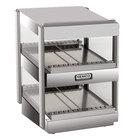 Nemco 6480-18S Stainless Steel 18 inch Slanted Double Shelf Merchandiser - 120V