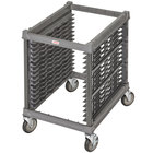 Cambro UPR1826U15 Camshelving&#174&#x3b; Ultimate 15 Pan Undercounter End Load Bun / Sheet Pan Rack with Metal Casters - Unassembled