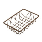Delfin WBK-96-PC65 Simply Steel 9 inch x 6 inch x 2 inch Rust Wire Bakery Basket