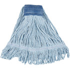 Continental Wilen A05103 32 oz. Large Blue Blend Loop End Mop Head with 5 inch Band