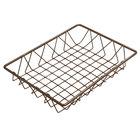 Delfin WBK-129-PC65 Simply Steel 12 inch x 9 inch x 2 inch Rust Wire Bakery Basket