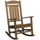 POLYWOOD R100TE Teak Presidential Rocking Chair