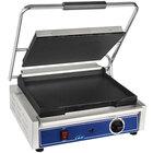 Globe GSG1410 14 inch x 10 inch Smooth Iron Top & Bottom Panini Sandwich Grill