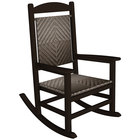 POLYWOOD R200FMACA Cahaba Presidential Woven Rocking Chair with Mahogany Frame