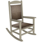 POLYWOOD R200FSACA Cahaba Presidential Woven Rocking Chair with Sand Frame