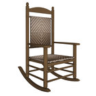 POLYWOOD K147FTECA Cahaba Jefferson Woven Rocking Chair with Teak Frame