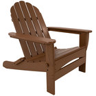 POLYWOOD AD7030TE Teak Classic Oversized Curveback Adirondack Folding Chair