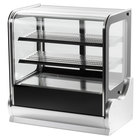 Vollrath 40862 36 inch Cubed Glass Refrigerated Countertop Display Cabinet