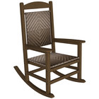 POLYWOOD R200FTECA Cahaba Presidential Woven Rocking Chair with Teak Frame