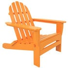 POLYWOOD AD5030TA Tangerine Classic Folding Adirondack Chair