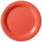 GET NP-6-RO Diamond Mardi Gras 6 1/2 inch Rio Orange Narrow Rim Round Melamine Plate - 48 / Case