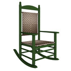 POLYWOOD K147FGRCA Cahaba Jefferson Woven Rocking Chair with Green Frame