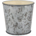 GET GC-35-GG/IV 3 3/4 inch Round Galvanized French Fry Cup with Flat Top