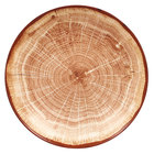 RAK Porcelain WDBUBC26TB Woodart 10 1/4 inch Timber Brown Porcelain Deep Coupe Plate - 12/Case