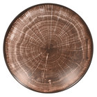 RAK Porcelain WDBUBC26OB Woodart 10 1/4 inch Oak Brown Porcelain Deep Coupe Plate - 12/Case