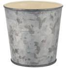 GET GC-44-GG/IV 4 inch Round Galvanized French Fry Cup with Flat Top