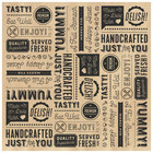 GET P-GT-1212-BR 12 inch x 12 inch Brown Typography Deli Sandwich Wrap Paper - 1000/Case