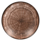 RAK Porcelain WDNNDP23OB Woodart 9 1/8 inch Oak Brown Porcelain Deep Coupe Plate - 12/Case