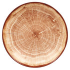 RAK Porcelain WDNNDP23TB Woodart 9 1/8 inch Timber Brown Porcelain Deep Coupe Plate - 12/Case