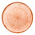 RAK Porcelain WDNNPR15CO Woodart 5 7/8 inch Cedar Orange Porcelain Flat Coupe Plate - 24/Case